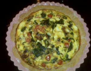 vegetable goat cheese bacon quiche