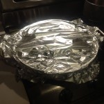 photo 13 - Rice covered in foil for steaming